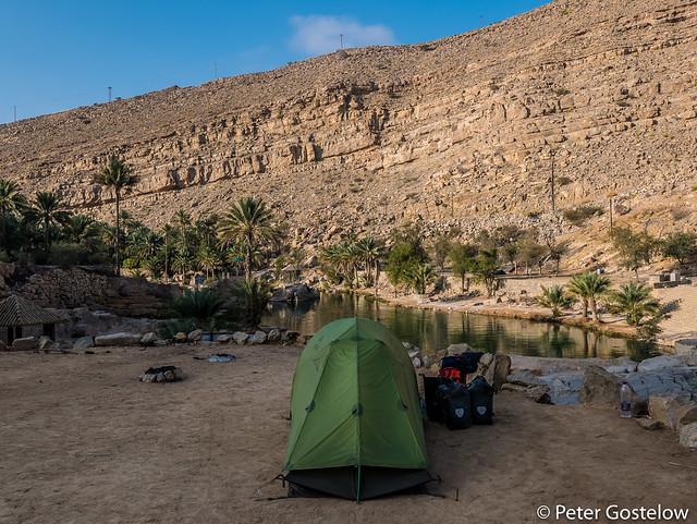 Camping at Wadi Bani Khalid