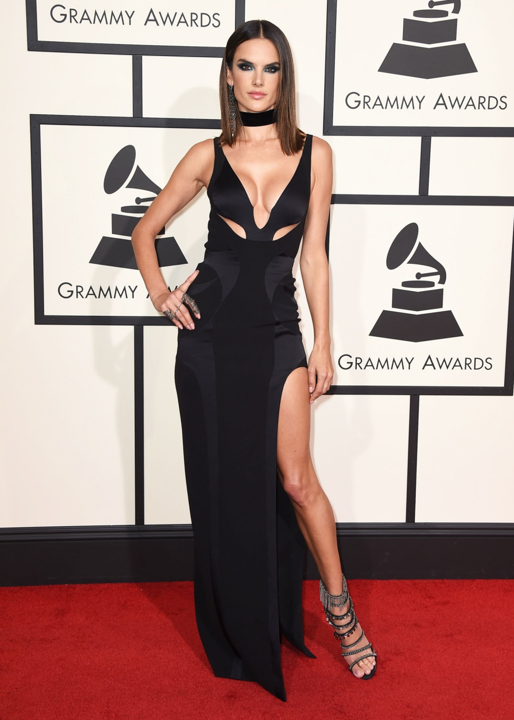 Alessandra Ambrosio Grammys 2016 Best Dressed Celebrities