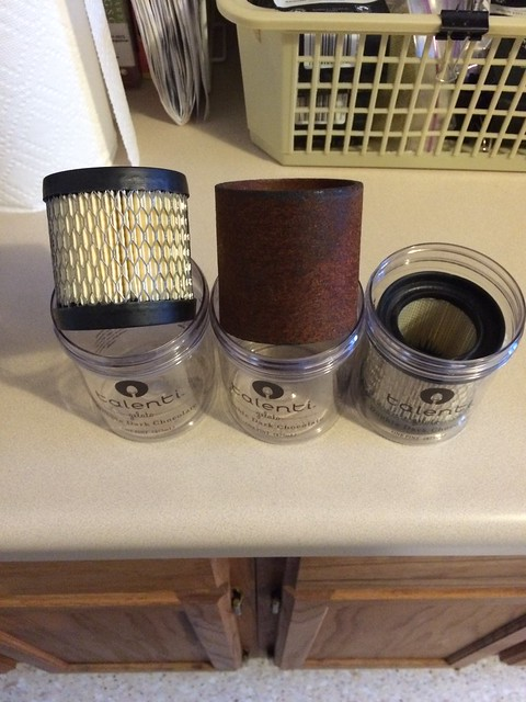 Rokon air filters fit perfect in these gelato containers