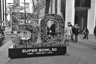 Super Bowl City - Market St bw