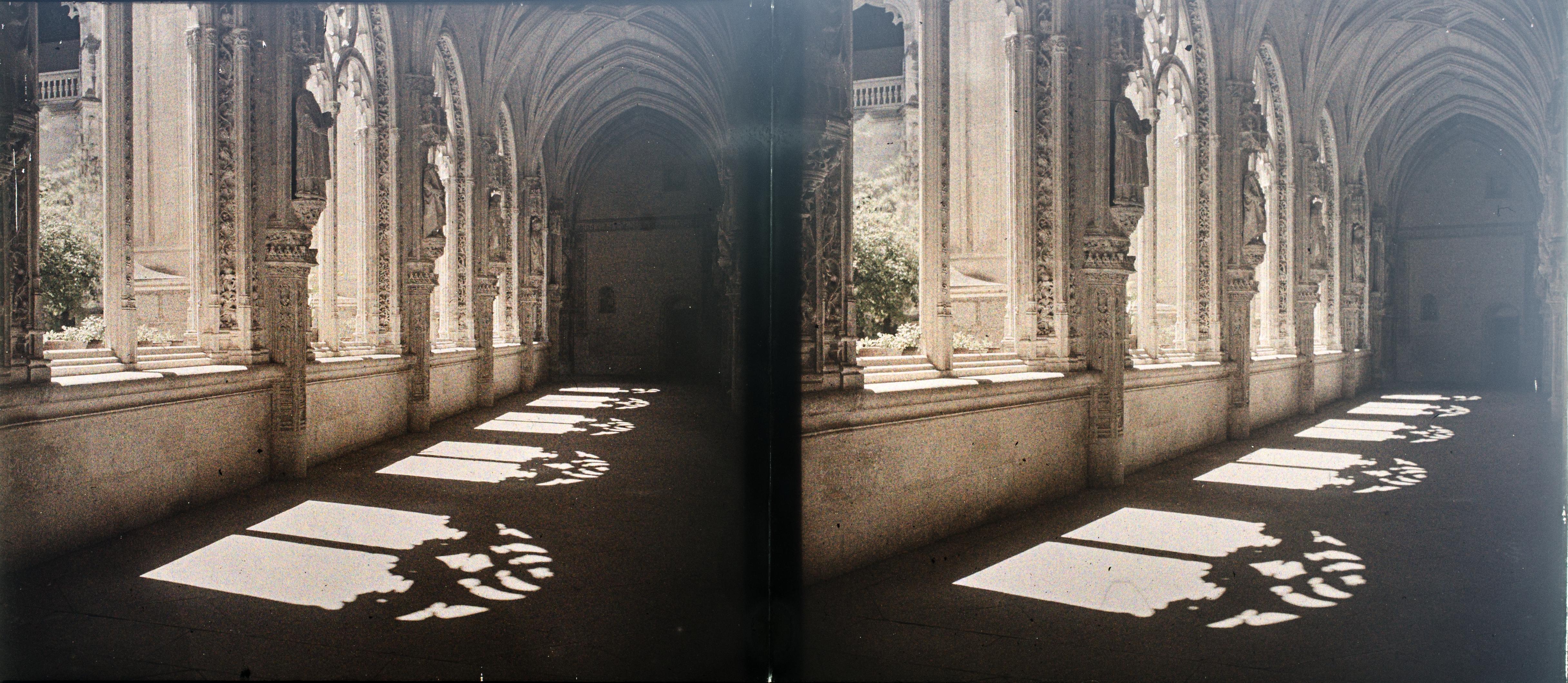 Autocromo del Claustro de San Juan de los Reyes hacia 1910. Fotografía de Francisco Rodríguez Avial © Herederos de Francisco Rodríguez Avial