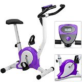 Exercise Bike,Acelectronic Top Quality Safe Professional Exercise Bike Top Quality Fitness Cardio Workout Machine Adjustable Resistance (Purple)