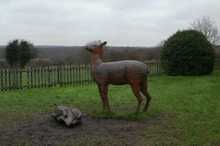 Elizabeth I lodge deer statues Chingford