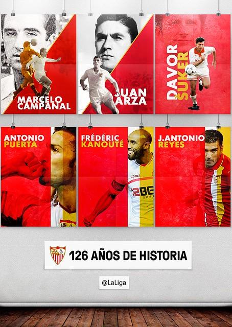 El Sevilla cumple 126 años de historia