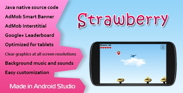 CodeCanyon Strawberry v1.0 – Game with AdMob and Leaderboard