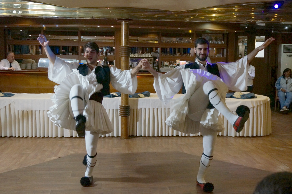 Greek Dancers on Athens One Day Cruise