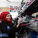 More families in need can now enjoy warm clothes during the harsh winter after rehabilitating of old clothes in UNDP's laundry workshop in Hama by workers like Entisar. by undp.syria