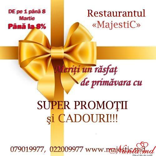 """""""MajestiC"""" - modern, deosebit, accesibil!  > Ofertă specială pentru cele mai Dragi şi Gingaşe mirese!!!"""