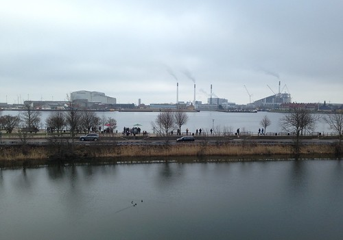 View of the Copenhagen harbour from the ramparts