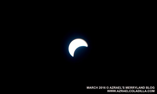 Partial solar eclipse March 9 2016 Philippines
