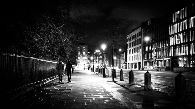Late - Dublin, Ireland - Black and white street photography
