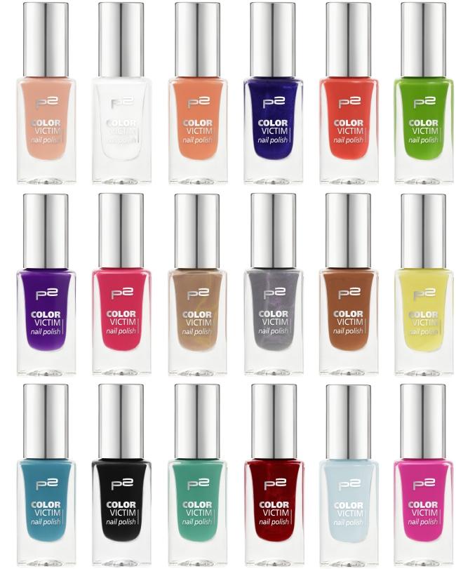 p2 Neuheiten 2016, p2 Sortimentswechsel, p2 color victim nail polish