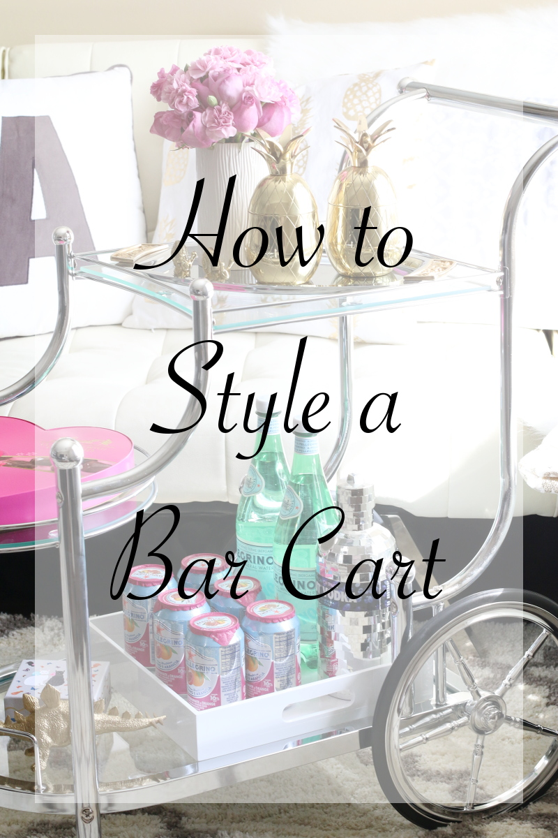 How to Style a Bar Cart via Styleanthropy