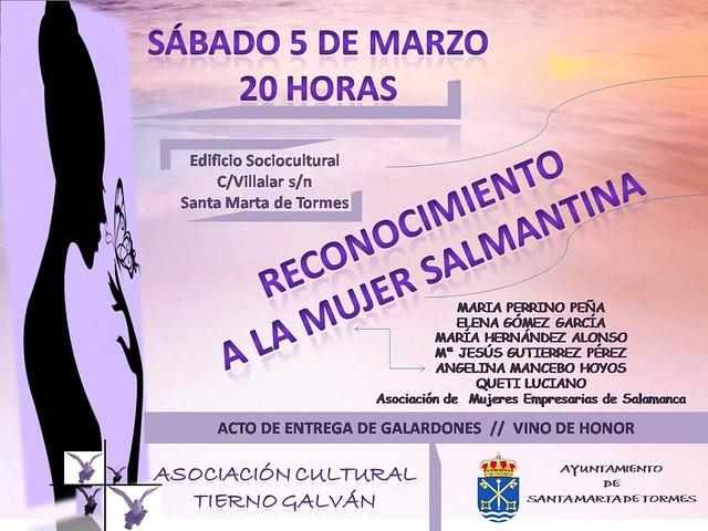 Imagen del Premio a la Mujer Salmantina que recibirá AESAL.