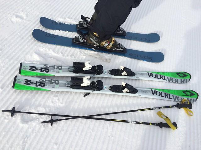 土, 2016-01-30 10:59 - lulunが借りた144cmのスキー