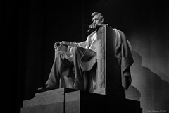 The Lincoln Memorial in Black and White