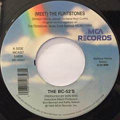 THE BC-52'S:(MEET) THE FRINTSTONES(LABEL SIDE-A)