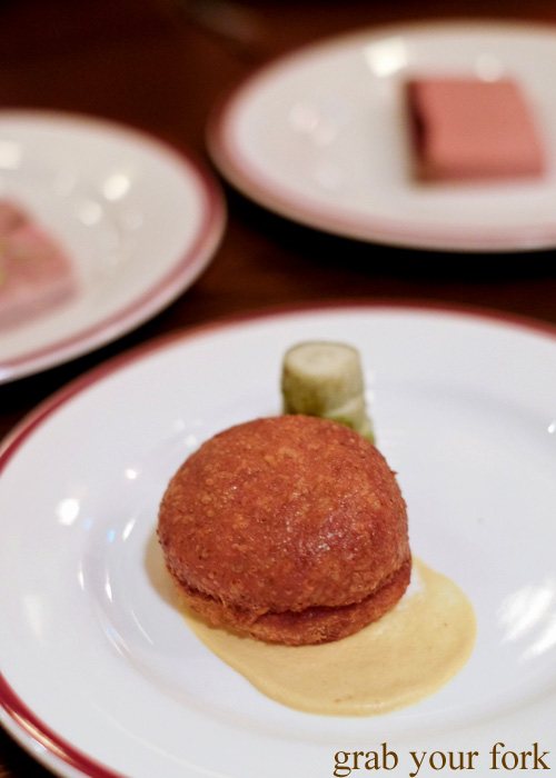 Malakoff fried gruyere at Restaurant Hubert by Dan Pepperell, Sydney