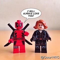 #LEGO #Deadpool #BlackWidow #Marvel @Marvel @vancityreynolds @lego_group @lego @bricksetofficial @bricknetwork @brickcentral