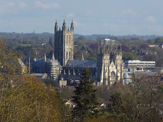 First view of Canterbury Cathedral