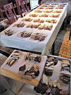 Biscotti staging area