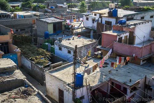 city travel pakistan rooftop horizontal outdoors dawn asia cityscape silkroad pk gilgit traveldestinations colorimage highangleview indiansubcontinent gilgitbaltistan