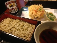 Japanese Buckwheat Soba Noodle and Tempura Lunch @…