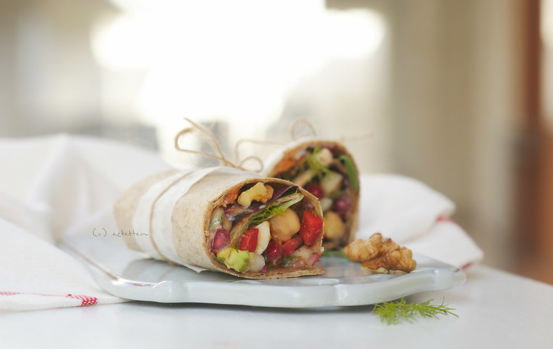 Chickpea wrap w/ herbs