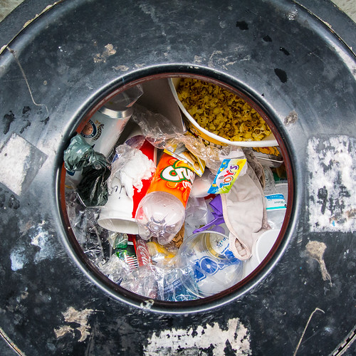 Circle Of Trash In A Square