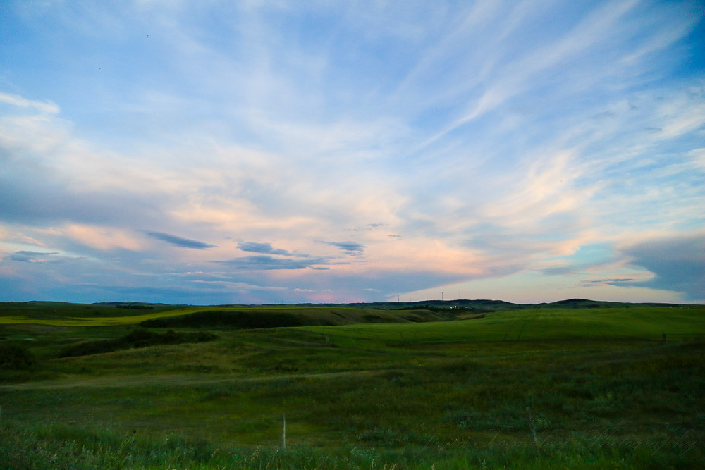 Sunset on the Alberta Prairies