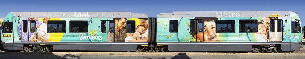 Pampers Train Los Angeles, CA Acrylic, Vinyl 2014