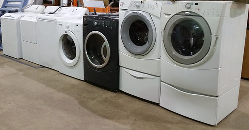 Assortment of washers and dryers