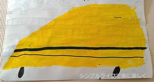 7歳誕生日、絵・ドクターイエロー