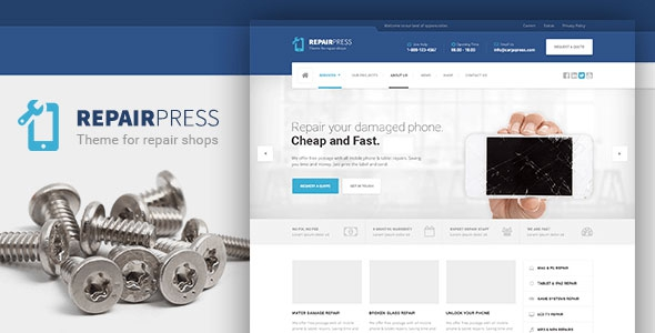 RepairPress v1.4.2 – GSM, Phone Repair Shop WP