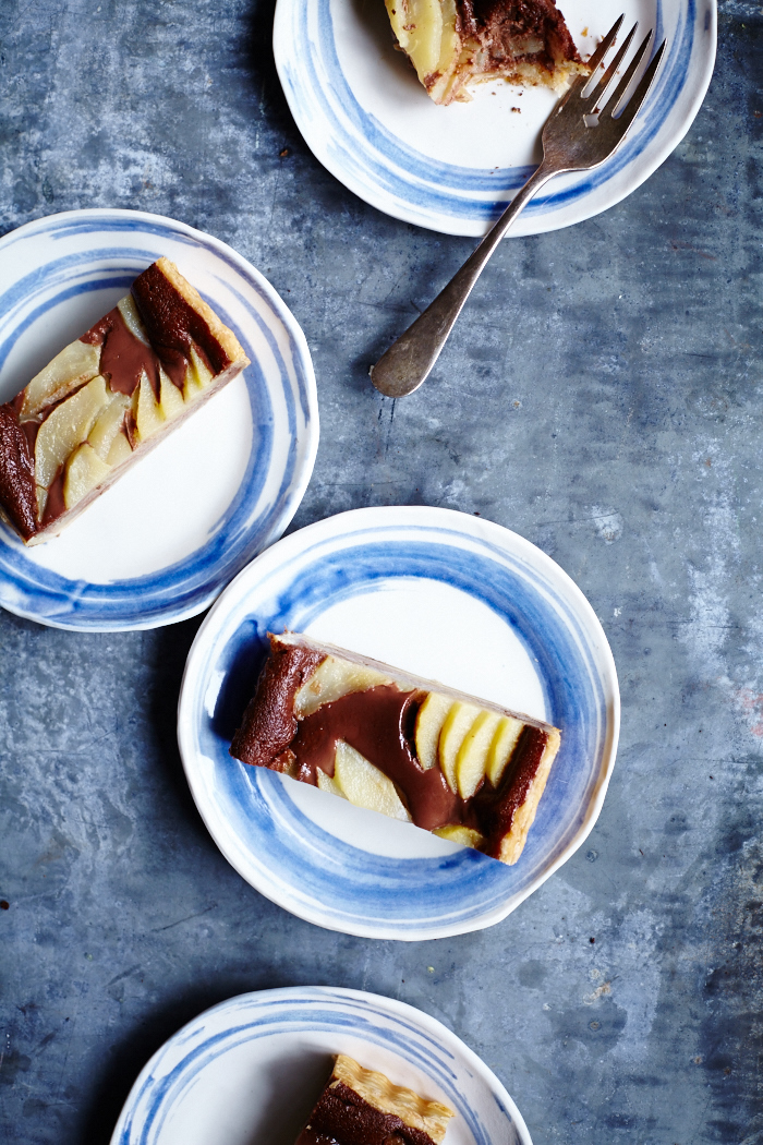 Pear Nutella Tart