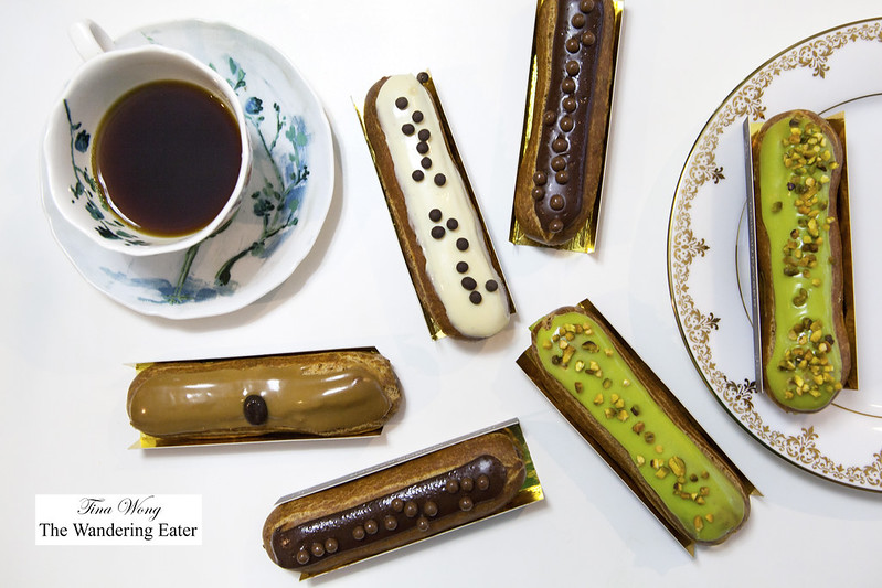 Eclairs - Nutella, Pistachio, Vanilla, and Coffee