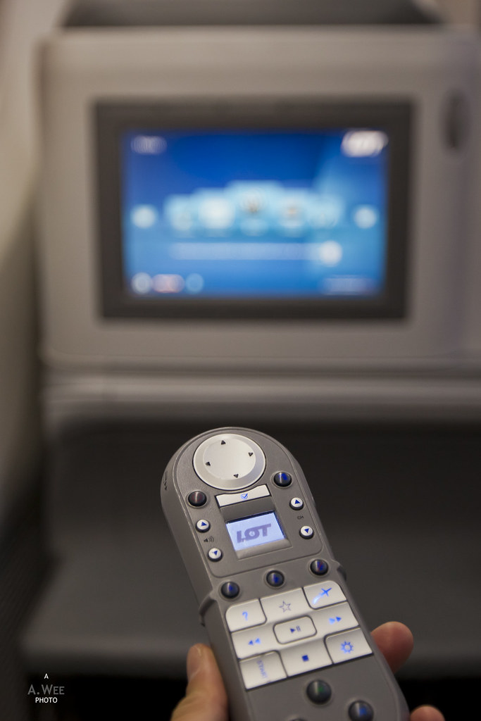 Inflight entertainment remote