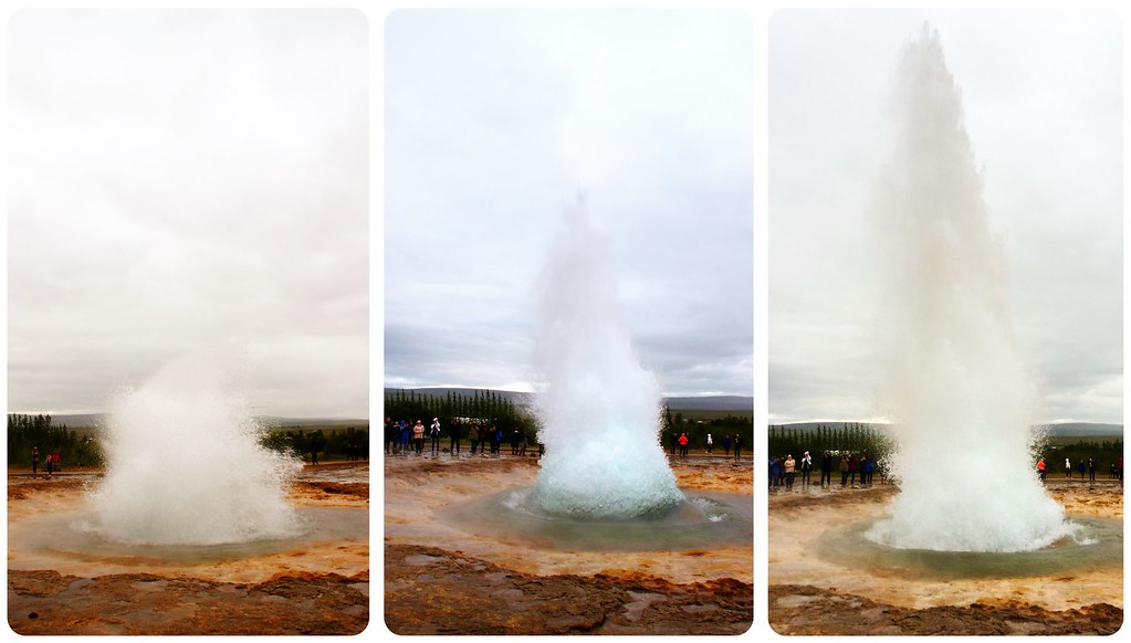 Geyser Eruption Iceland