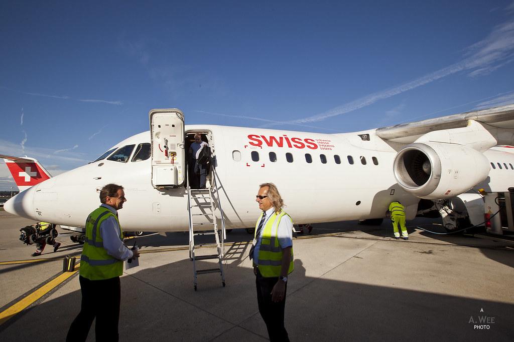 Disembarking the RJ100