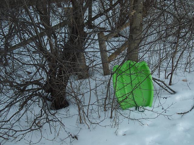 Green toboggan