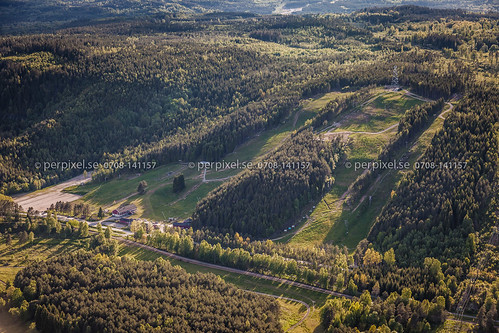 sverige swe västragötaland flygfoto skidbacke tvärred ubbarp