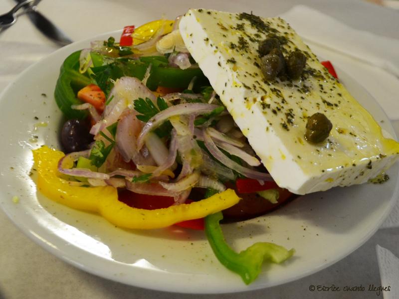Platos griegos: Típica ensalada griega
