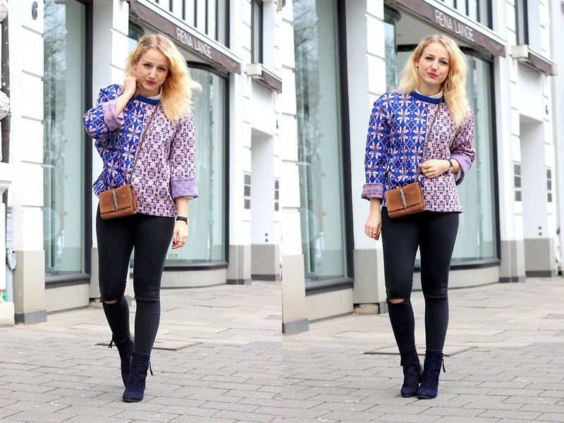 Outfit blau pink1