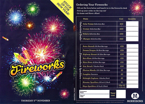 Morrisons 2015 Mammoth Sparklers £1.00