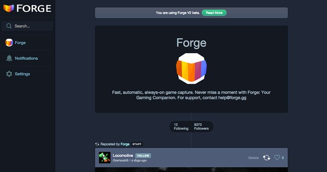 Forge profile