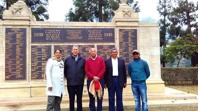 07. Ranjit Barthakur, S. Ramadorai, Mala Ramadorai, R. Srinivashan and Nitu Kr. Kalita at II World War Memorial, Kohima on 100216