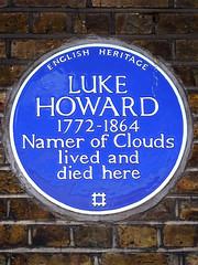 Photo of Luke Howard blue plaque