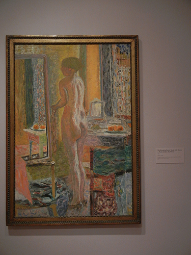 Pierre Bonnard, Legion of Honor, SF - The Dressing Room, Nude with Mirror, or Nude Before the Mirror _ 1871