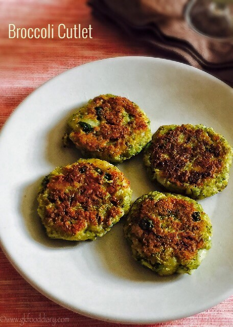 Broccoli cutlet recipe for toddlers and kids4