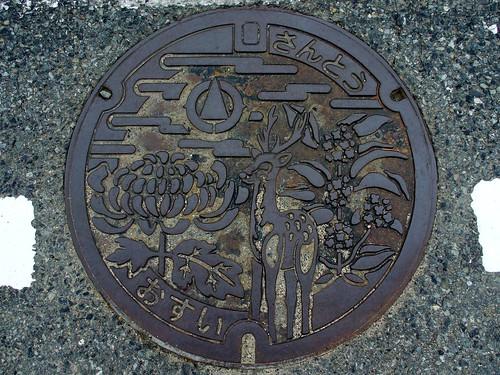 Santo Hyogo, manhole cover (兵庫県山東町のマンホール)